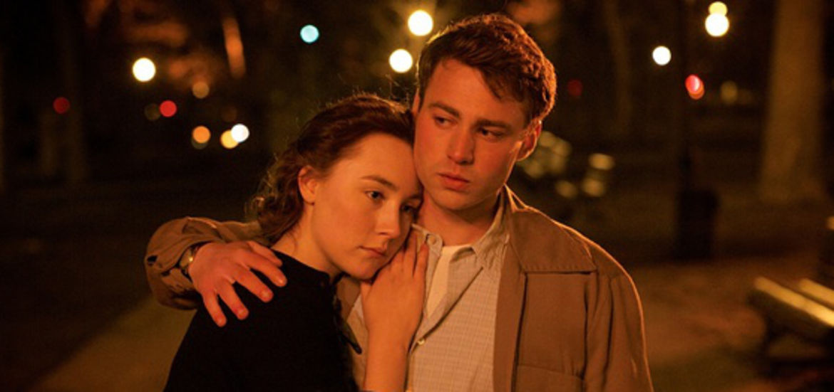 """Cover Photo: Saoirse Ronan and Emory Cohen in Fox Searchlight's """"Brooklyn"""""""