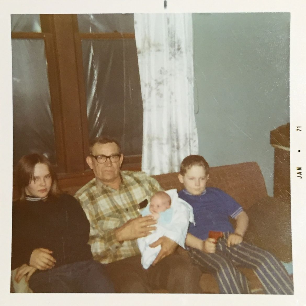 Cover Photo: left to right: Mary. Bee (held by her grandfather), Christopher. Courtesy of author