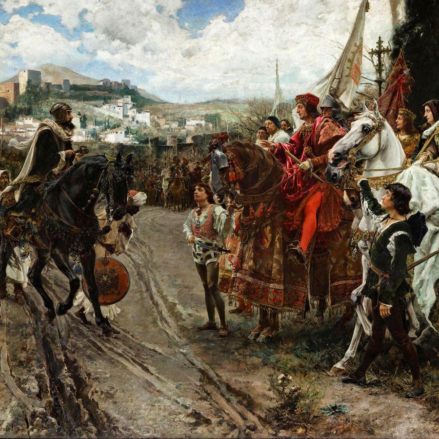 """Cover Photo: """"The Capitulation of Granada,"""" Francisco Ortiz"""