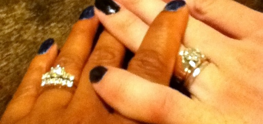 Cover Photo: A grainy photo of our rings