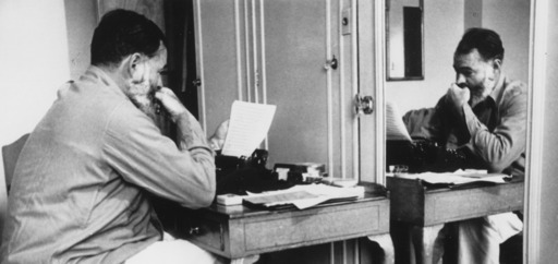 Cover Photo: Ernest Hemingway at the Dorchester Hotel, London, 1944/wikimedia commons