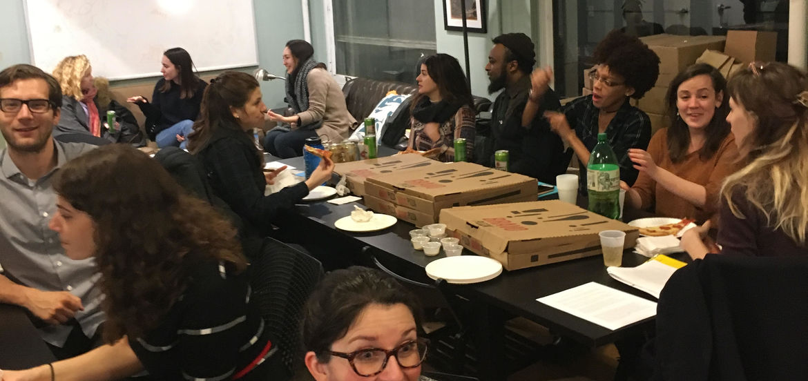 Cover Photo: students at our December write-in, Don't Write Alone