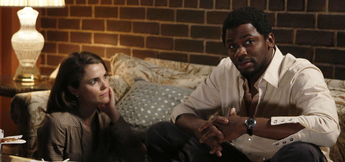 Cover Photo: Keri Russell and Derek Luke in THE AMERICANS