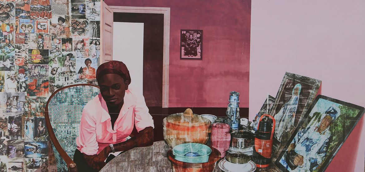 "Cover Photo: Njideka Akunyili Crosby, ""Before Now After (Mama, Mummy and Mamma)""/JR P/flickr"