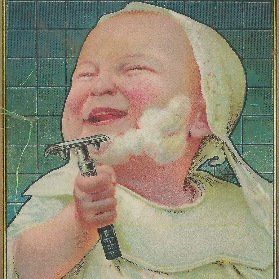 Cover Photo: From Gillette razor ad c. 1906 / Don the UpNorth Memories Guy / via Flickr