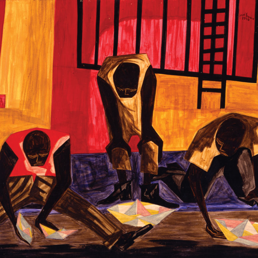 """Cover Photo: """"Paper Boats"""" by Jacob Lawrence, 1949"""