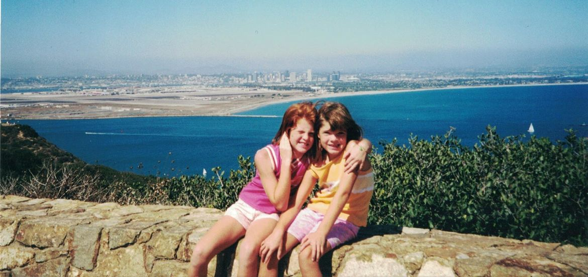 Cover Photo: photo of the author and her sister