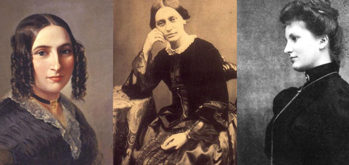 Cover Photo: Via Wikimedia Commons: Fanny Mendelssohn, Clara Schumann, Alma Mahler