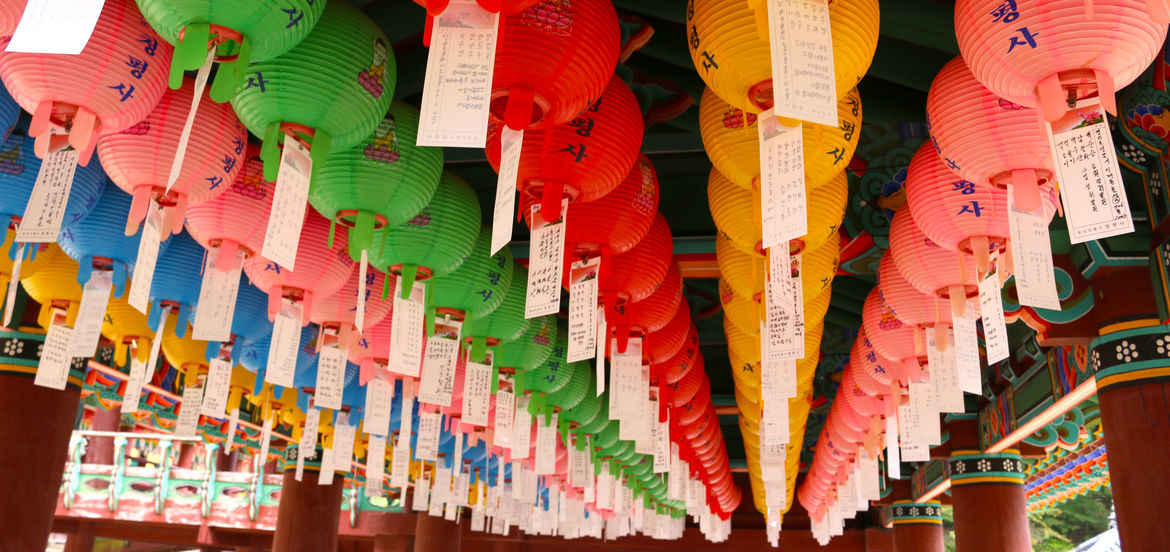 Cover Photo: Paper lanterns at Cheongpyeongsa, a Buddhist temple in Gangwon Province, Korea / photo by Spencer Lee Lenfield, 2017