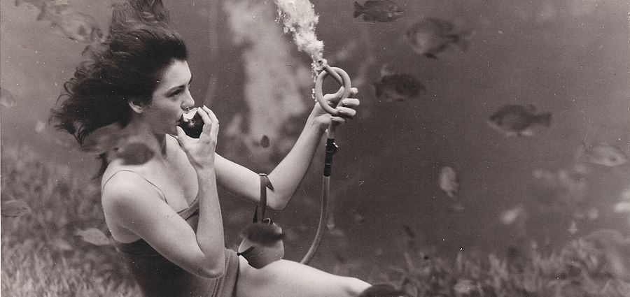 Cover Photo: J R Yagel, the Weeki Wachee Springs Mermaid Show, late 1940s, via Ellen Jo Roberts on Flickr